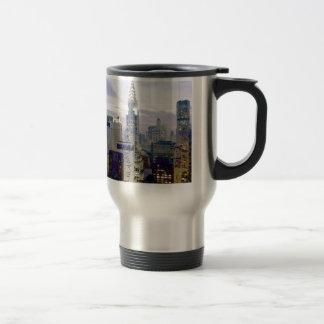 Pop Art Oil Paint Effect New York Travel Mug