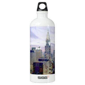Pop Art Oil Paint Effect New York Water Bottle