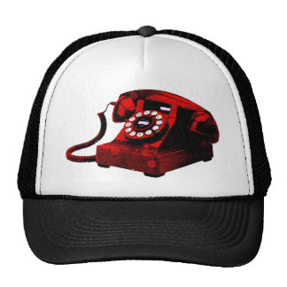 Pop Art Old Desk Telephone Box Hat