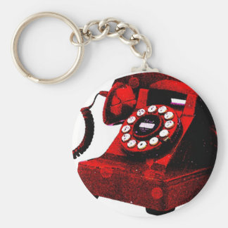 Pop Art Old Desk Telephone Box Keychain
