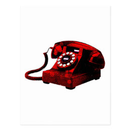 Pop Art Old Desk Telephone Box Postcard