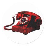 Pop Art Old Desk Telephone Box Sticker