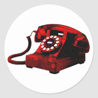 Pop Art Old Desk Telephone Box Sticker