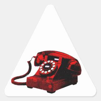 Pop Art Old Desk Telephone Box Triangle Sticker