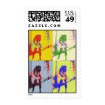 PoP art original fashion sketch stamp