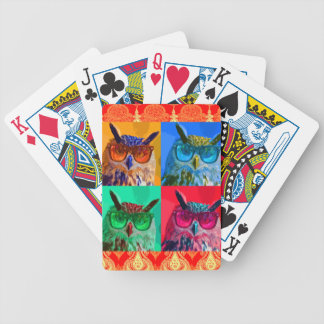 Pop art Owl Bicycle Playing Cards