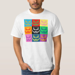 Men's Crew Value T-Shirt with Pop Art Owl Face design