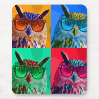 Pop art Owl Mouse Pad