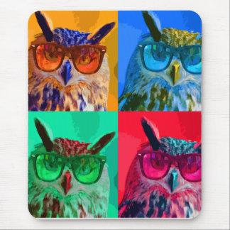 Pop art Owl Mouse Pad