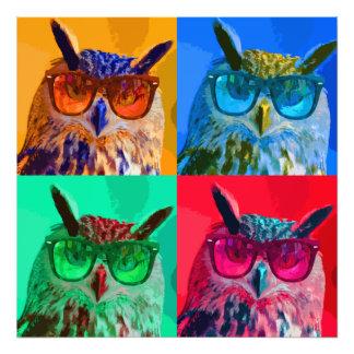 Pop art owl photo print