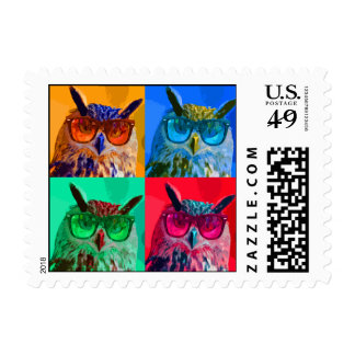 Pop art Owl Postage