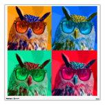 Pop art owl wall graphic
