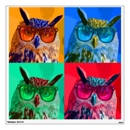 pop art owl wall sticker zazzle pop art sparrows wall stickers by the binary box