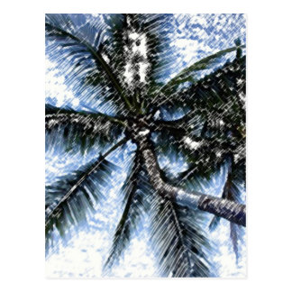 Pop Art Palm Tree Postcard