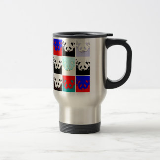 Pop Art Panda 15 Oz Stainless Steel Travel Mug