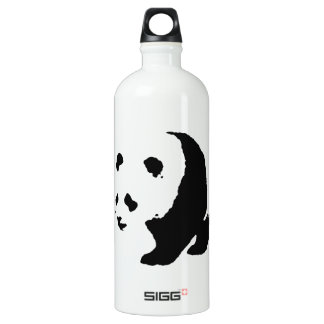 Pop Art Panda Aluminum Water Bottle