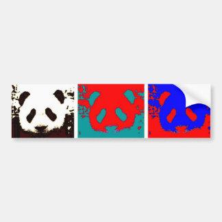 Pop Art Panda Bumper Stickers