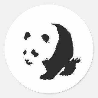 Pop Art Panda Classic Round Sticker