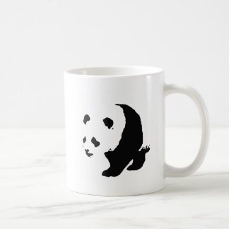 Pop Art Panda Classic White Coffee Mug