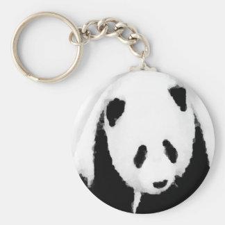 Pop Art Panda Key Chains