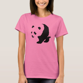Pop Art Panda Ladies Long Sleeve T-Shirt