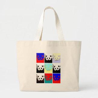 Pop Art Panda Large Tote Bag