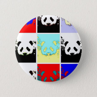 Pop Art Panda Pinback Button