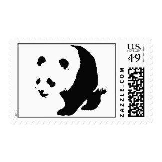 Pop Art Panda Postage Stamps