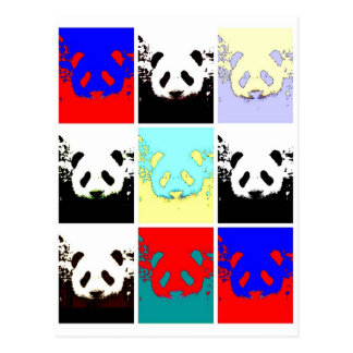 Pop Art Panda Postcard