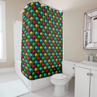 Yellow Green Blue Shower Curtains | Zazzle