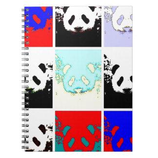 Pop Art Panda Spiral Notebook