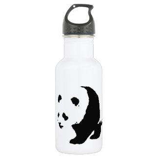 Pop Art Panda Stainless Steel Water Bottle