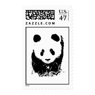 Pop Art Panda Stamps