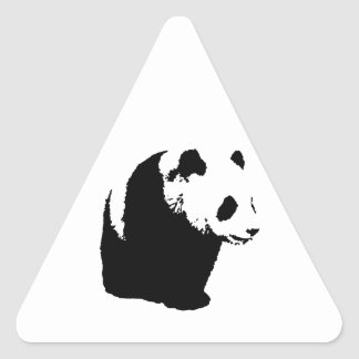 Pop Art Panda Triangle Sticker
