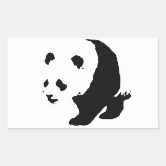Pop Art Panda Rectangle Stickers
