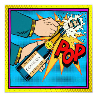 Pop Art Party Celebration Invitation