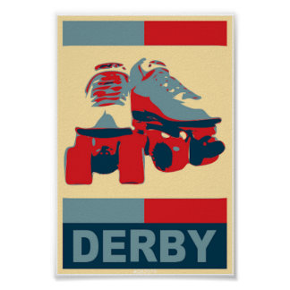 Pop Art  Patriotic Derby Poster