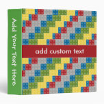 Pop Art Pattern Colorful Bricks for Boys Binders