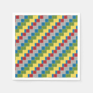 Pop Art Pattern Colorful Bricks for Boys Napkin