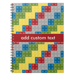 Pop Art Pattern Colorful Bricks for Boys Notebook