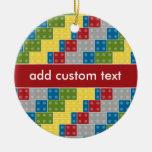 Pop Art Pattern Colorful Bricks for Boys Ornament