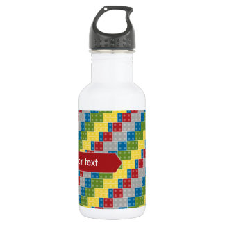 Pop Art Pattern Colorful Bricks for Boys Water Bottle