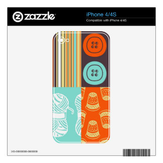 Pop-art pattern - sewing iPhone 4S decal