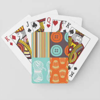 Pop-art pattern - sewing playing cards