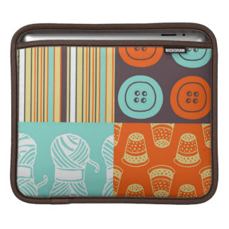 Pop-art pattern - sewing sleeve for iPads
