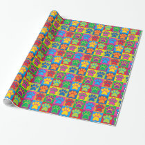 Pop Art Paws Wrapping Paper