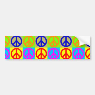 Pop Art Peace Sign Symbol Bumper Sticker