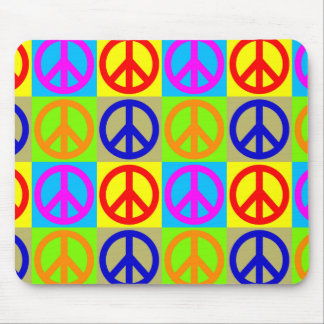 Pop Art Peace Sign Symbol Mousepad