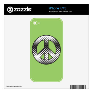 Pop Art  Peace Symbol Decals For The iPhone 4