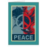 POP ART Peace Symbol Greeting Card